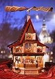 Weihnachtspyramide Erzgebirge Richard Glässer Seifen Pyramide Adventshaus groß, elektrisch beleuchtet und betrieben, 9050
