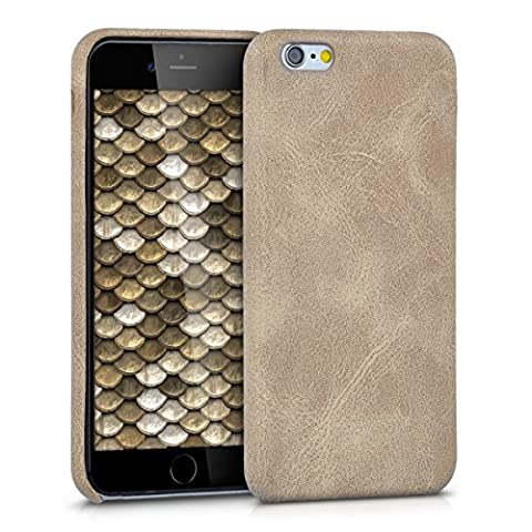 kwmobile Housse Softcase pour Apple iPhone 6 / 6S - Coque en silicone TPU avec motif Design similicuir