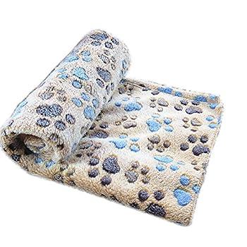 Befaith Doux chaud animal molleton couverture lit mat couverture coussin chien chiot animal marron 60x40cm