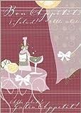 Im 5er Set: Bon Appetit! Die Designer Einladungskarte zum fröhlichen Beisammensein mit Freunden