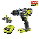 Ryobi 5133002534 Perceuse visseuse R18pdbl-ll15s Batterie 18V au lithium, Percussion sans balais + 2 batteries li-ion 1,5 Ah