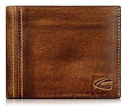 camel active, große Geldbörse aus echtem Leder, hochwertiges Echtleder Portemonnaie für Herren, Geldbeutel (braun)