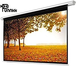 Punnkk I8 Insta Lock Projector Screen Size -8Ft(Width) X 6Ft(Height), 120 Inches 4:03, Pull Down Manual Projector Screen with AUTO Lock, Movie Home Theater 8K/4K Ultra HD 3D Ready