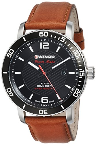 Wenger Reloj Analogico para Unisex de Cuarzo con Correa en Cuero 01.1841.105