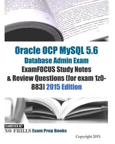 Free Oracle Ocp Mysql 56 Database Admin Exam Examfocus