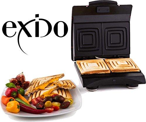 Exido 12240004 Sandwich Design Maker Sandwichmaker  Doppel Sandwichtoaster  700 Watt  Zubereitung in...