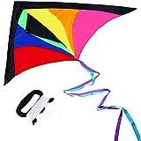 Anpro Drachenflieger Bunte Drachen für Kinder und Erwachsene einfach zu fliegen leicht und Stabil perfekt für Kinder ab 13 Jahren