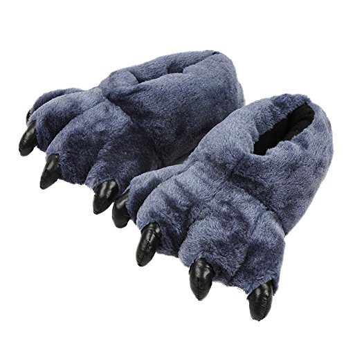 AIZHE  Animal Slippers, Chaussons homme femme Bleu Marine