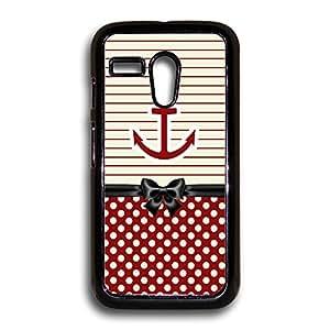 Anchor Red Stripes and Polka Dots Motorola Case, Moto G Case, Motorola G Case, Moto G 1st Gen Case