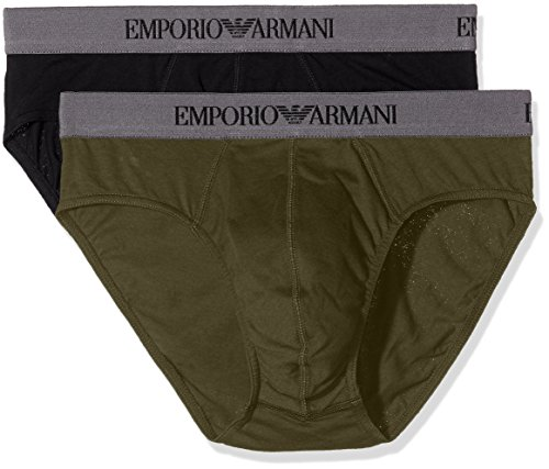 Emporio Armani Herren Slip Mehrfarbig (Nero/Militare 50720)
