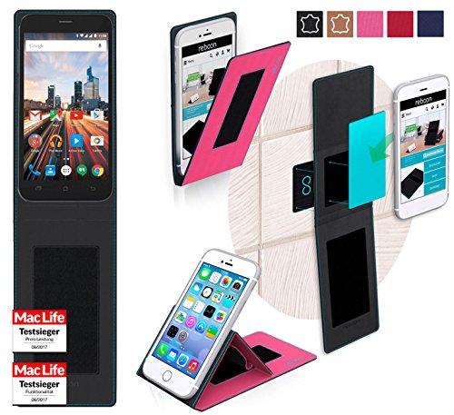 reboon Hülle für Archos 50 Helium+ Tasche Cover Case Bumper   Pink   Testsieger