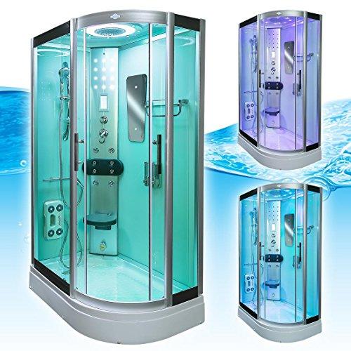 AcquaVapore DTP8060-7000R Dusche Duschtempel Komplett Duschkabine 80x120 - 4