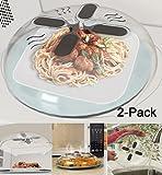 Hover Cover, magnetische Mikrowellen-Abdeckung zum Erwärmen von Speisen, keine Spritzer, mit Schlitzen zum Entweichen von Dampf, Abdeckung für Schneidebretter, 30 cm 2-pack