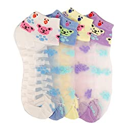 Ankle length Teddy socks for girls/Women pack of 5(Colour Assorted)