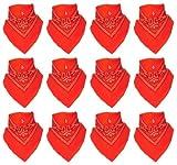 12er Pack Bandanas mit original Paisley Muster in orange