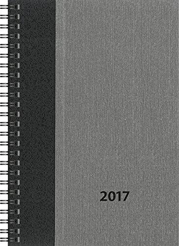 Preisvergleich Produktbild Rido/idé (7021843) Buchkalender Timing 1 (2 Seiten = 1 Woche, 148 x 210 mm, Balacron-Einband Business Class, Kalendarium 2017) grau