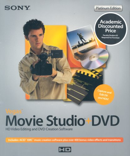 Sony Vegas Movie Studio +DVD 6 (Platinum Edition) (Education Edition) (PC) - Sony 6 Vegas
