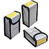TELESIN Packung mit 3 Lipo Sicherheit Schutz feuerbeständig Lipo Batterie sicher Tasche für DJI Phantom 3 Phantom 4 Batterie laden & Lagerung