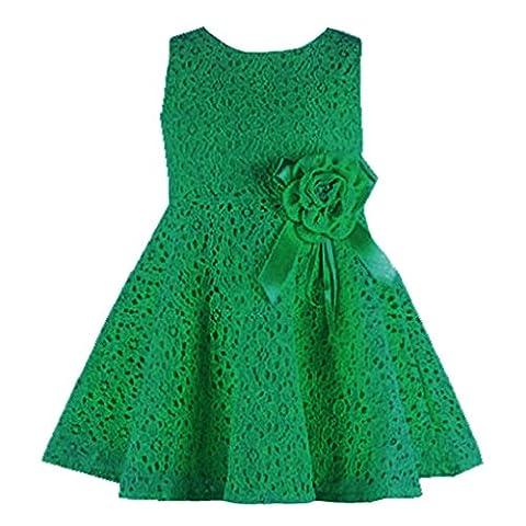 Tonsee Neue Sommer Kleider Babykleidung Mädchen Prinzessin Mädchen Weste Kleid Partei Kleider Kinderkleidung hohlen Partei Kostüm für 0-7 Jahre (0-1Y, Grün)
