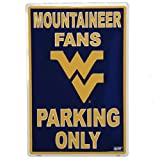 West Virginia-Universität Fans Parking Only Blechschild NCAA
