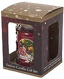 Yankee Candle Halterung für Duftkerzen der Gr.L im Glas, Design: Weihnachtsmann, Schneemann oder Rentier; optional mit Duftkerze, metall, silber, Reindeer Holder & Jar Gift Set