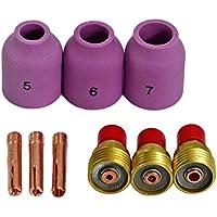 TIG lente de gas boquillas de cerámica Coronilla Ajuste WP 9 20 25 TIG Antorcha de