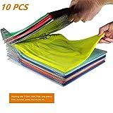 YOOUOOK Stacking Board,Kleidung Folding Organizer,Lazy Klappbrett,Faltbrett für Erwachsene, Anti-Falten Stapelbrett,Layered Partition Kleiderschrank Falten-10 Stücks (10)