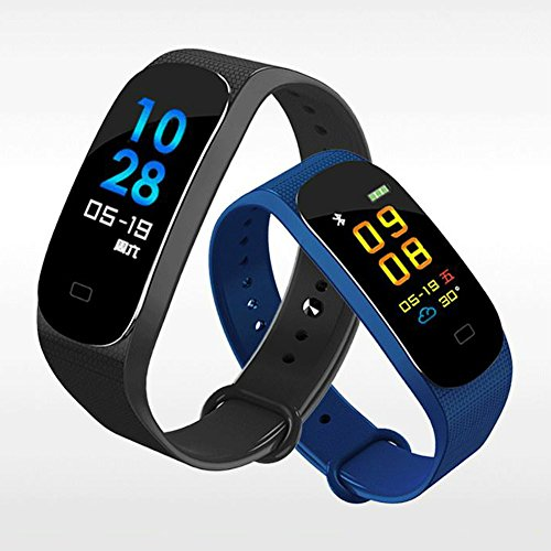 Preisvergleich Produktbild Color Screen Fitness Tracker - Activity Tracker with Heart Rate Monitor Sleep Monitor, Waterproof Smart Wrist Watch Bracelet Pedometer Wristband for AndroidiOS