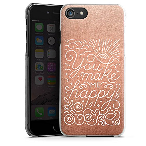 Apple iPhone X Silikon Hülle Case Schutzhülle Sprüche Love Happy Hard Case transparent