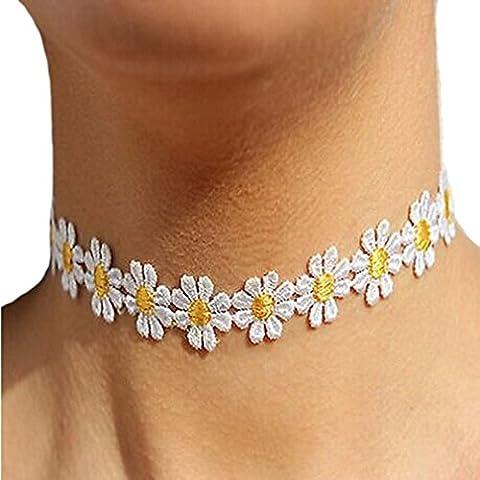 Modeschmuck, XinanZarte Gänseblümchen Blume Choker Halskette Charme