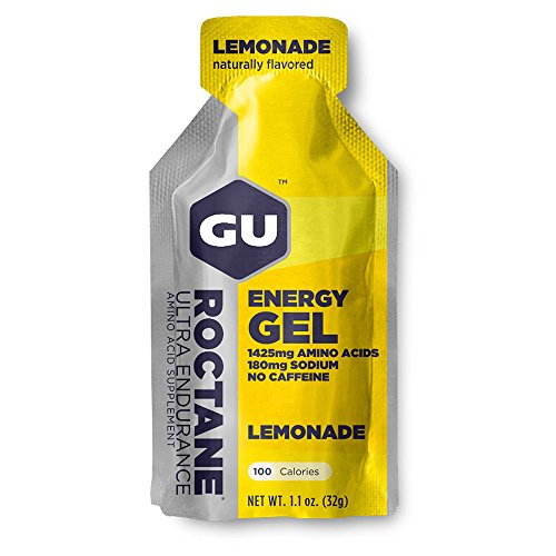 GU Roctane Ultra Endurance Energy Gel – Box of 24 x Lemonade (Lemon), 32G