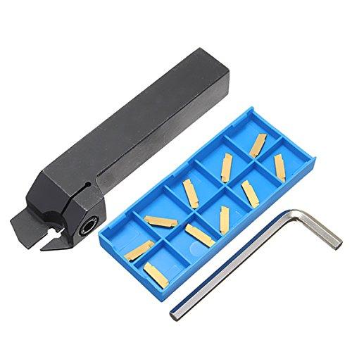 EsportsMJJ Mgehr2020-2 CNC Drehwerkzeughalter Mit 10St Mgmn200 Karbid Einlagen (Hartmetall, Holz Drehbank-werkzeuge)