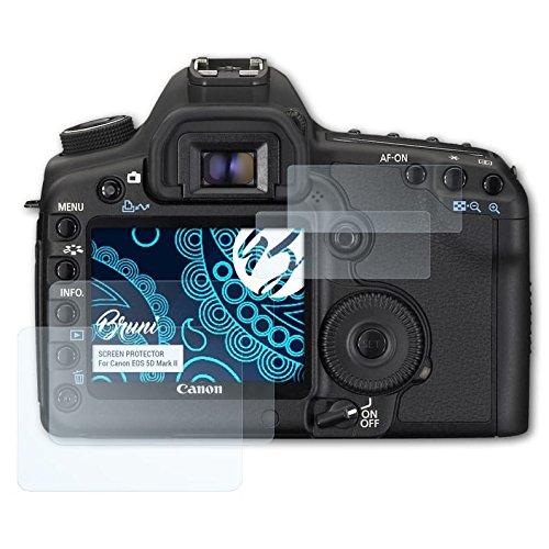 Bruni Schutzfolie kompatibel mit Canon EOS 5D Mark II Folie, glasklare Displayschutzfolie (2er Set) Canon Eos 5d Mark Ii
