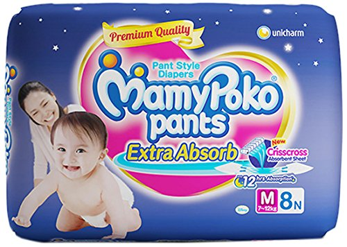 MamyPoko Pants Extra Absorb Diapers (8 PCS, M)