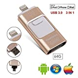 Farway 64 GB USB-Stick für iPhone iPad iOS Android 64 GB Memory Stick Externe USB Speicher Memory Stick, marceloant OTG Flash Drive Externe Speicher Flash-Speicher Pen Drive