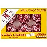 Chocolat au lait Tea Cakes Tunnock 6 x 24g (Pack de 12 po sur 6 po)