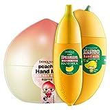 Providethebest 3pcs Pfirsiche Banana Mango Duft Anti-Aging Moisturizer Feuchtigkeitsspendende Handcreme Hand Pflegende Lotion Makeup
