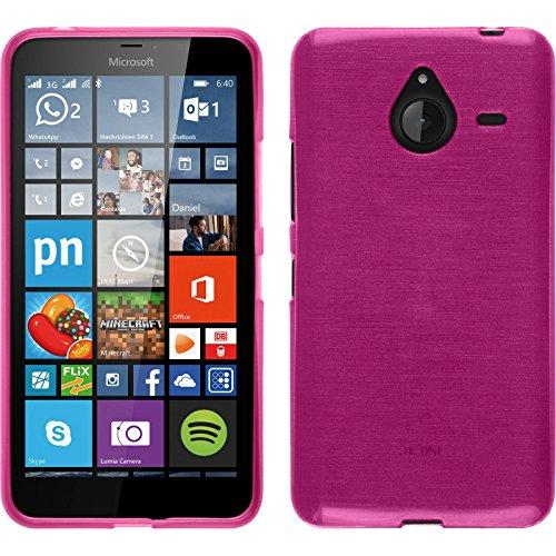 Funda de silicona para Microsoft Lumia 640 XL - brushed rosa caldo - Cover PhoneNatic Cubierta + protector de pantalla