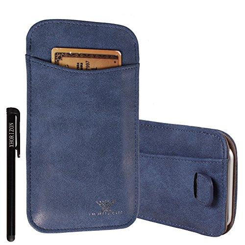 xhorizon® Modisch Luxus Scheuern Leder Tasche Haken Schleife Beutel Halfter Kreditkarteninhaber Case Hülle Präziser DesignPassen für iPhone 4 4S mit Ein Stift und Ein Reinigungstuch #5