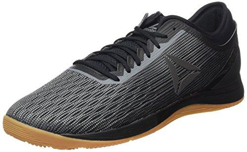 reebok crossfit nano 8.0, scarpe da fitness uomo, nero (black/alloy/gum 000), 45.5 eu