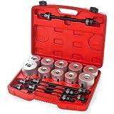 TecTake Set de 27 piezas Herramientas mecánicas eje de montaje y desmontaje extractor de rodamientos