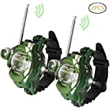 Yococobuy Walkie Talkie for Kids, Two-Way Radio Walky Talky Watches with Flashlight Children Outdoor game Interphone Toy game and gifts for Boy and Girl age 4 to 12(1 Pair)