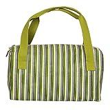 Knit Pro Mano Bloque Impreso Tela soluciones de Almacenamiento Verde Crafting Caddy Set
