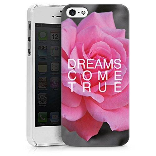 Apple iPhone X Silikon Hülle Case Schutzhülle Träume Blume Sprüche Hard Case weiß