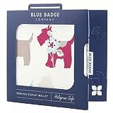 Blue Badge Company Scotties - Custodia per permesso disabili e disco orario, a portafoglio, motivo: cani colorati