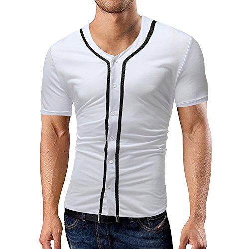 dc8cb6a94f Elegante da Uomo Basic Manica Corta Ricamo Giraffa Tennis Golf Maglietta  T-Shirt
