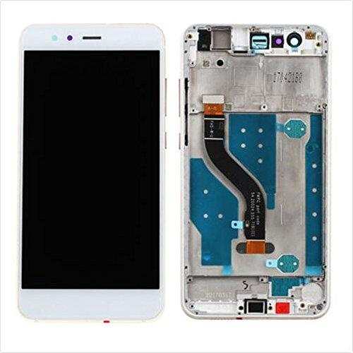 HUAWEI P10 LITE Display im Komplettset LCD Ersatz Für Touchscreen Glas Reparatur (Weiß + Rahmen) -