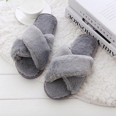 LEPAKSHI Gray, 5.5 : LYPO Autumn and winter new women's slippers 2017 Korean flat bottomed cotton slippershome interior shoes thermal non slip