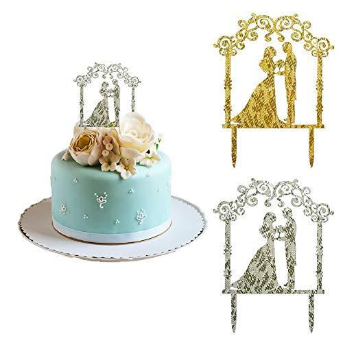 10 Stück Acryl Hochzeitstorte Einsätze Hochwertige Acryl Kuchen Dekoration Kuchenaufsätze Kuchen Einfügen Geburtstagskuchen Karte