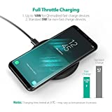 Wireless Charger, RAVPower Qi- Certified for iPhone XS/XR/XS Max/8/8 Plus, 10W Fast Charge Wireless Charging Pad for Galaxy S9 / S9+ / S8 / S8+ / S7 and All Qi-Enabled Devices